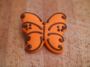 Cookie Butterfly Orange 2