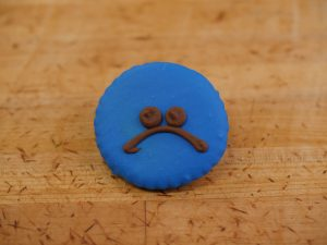 Cookie Deco Sad Face