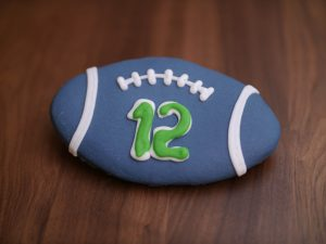 Cookie Deco Seahawk Football 2