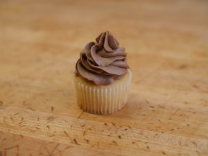 Cupcake Choc On White